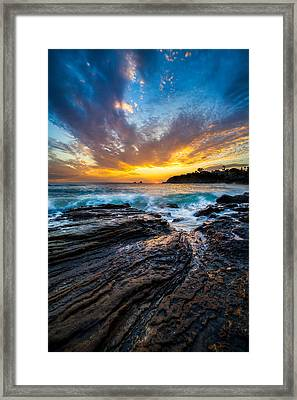 The Swell Framed Print by Cole Pattschull