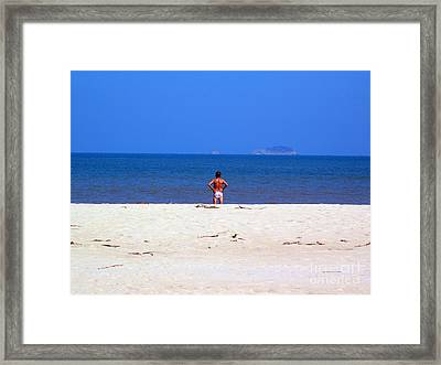 Framed Print featuring the photograph The Swimmer by Ethna Gillespie
