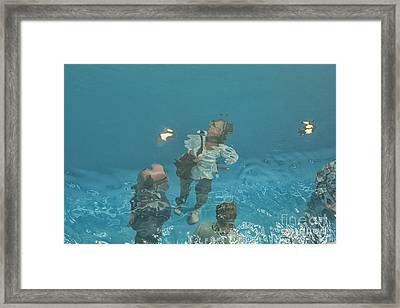 The Swimming Pool Framed Print by Patricia Hofmeester