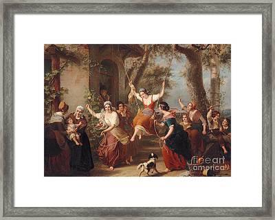 The Swing, 1848 Framed Print