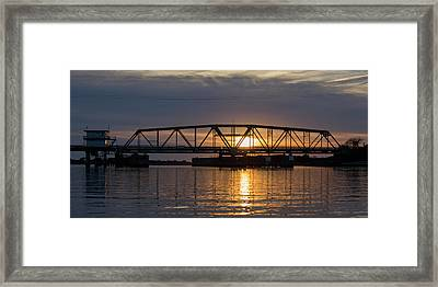 The Swing Bridge Framed Print by Betsy Knapp