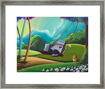 The Swing Framed Print by Cindy Thornton