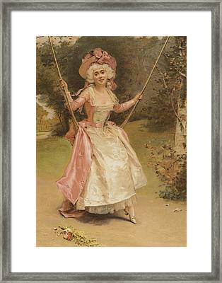 The Swing Framed Print by English School