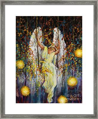The Swinging Angel Framed Print
