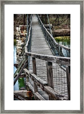 The Swinging Bridge Framed Print