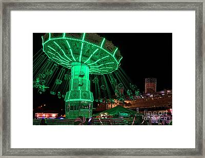 The Swings At Queen Mary's Chill Framed Print by Eddie Yerkish