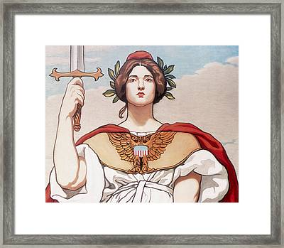 The Sword Is Drawn Framed Print