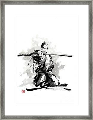 The Sword Framed Print by Mariusz Szmerdt