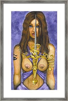 The Sword Of Magic Framed Print by Scarlett Royal