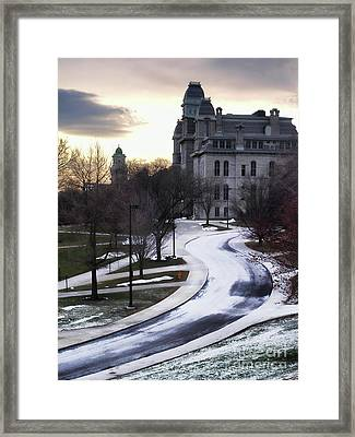 The Syracuse University Hall Of Languages Framed Print by Debra Millet