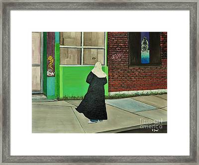 The Tag Framed Print by Reb Frost