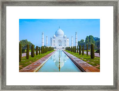 The Taj Mahal Of India Framed Print