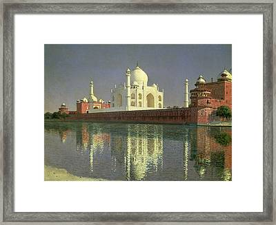 The Taj Mahal Framed Print by Vasili Vasilievich Vereshchagin