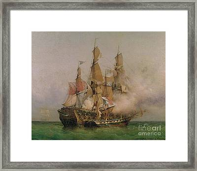The Taking Of The Kent Framed Print