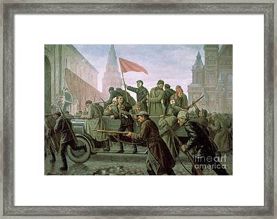 The Taking Of The Moscow Kremlin In 1917 Framed Print