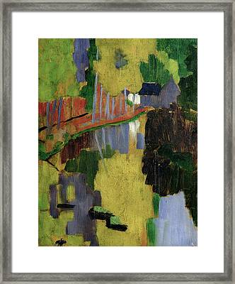 The Talisman Or The Swallowhole In The Bois Damour Pont Aven Framed Print by Paul Serusier