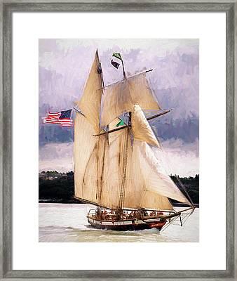 The Tall Ship The Lynx, Fine Art Print Framed Print by Greg Sigrist