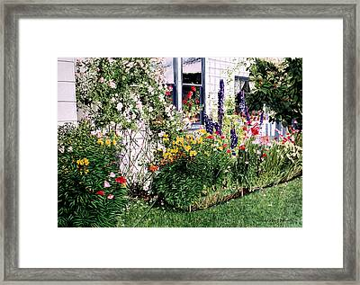 The Tangled Garden Framed Print by David Lloyd Glover