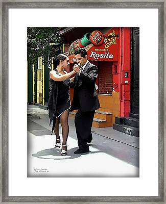 The Tango Framed Print by Joan  Minchak