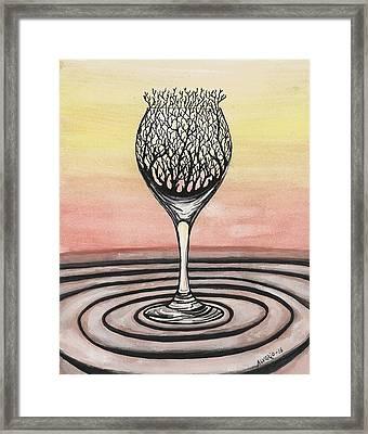 The Taste Of A Silent Sunset Framed Print by Edwin Alverio