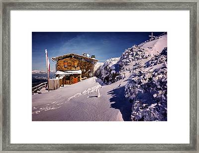 The Tavern On Untersberg Mountain Salzburg In Winter Framed Print by Carol Japp
