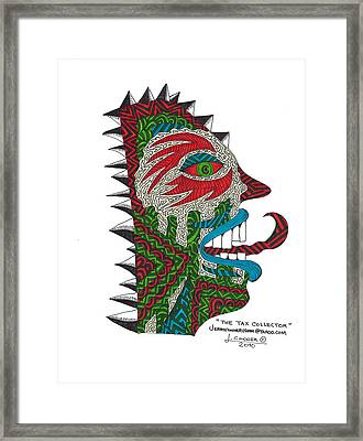 The Tax Collector Framed Print