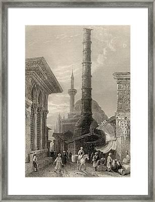 The Tchernberle Tash Or Burnt Pillar Framed Print by Vintage Design Pics