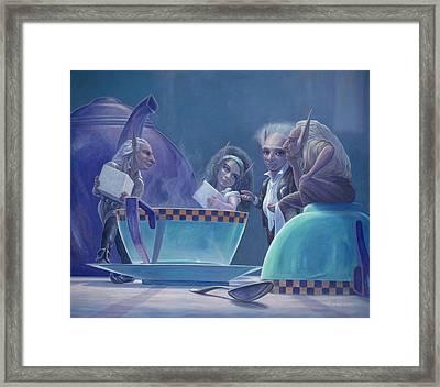 The Tea Party Framed Print by Leonard Filgate