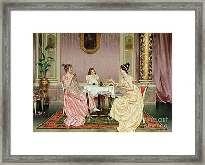 The Tea Party Framed Print by Vittorio Reggianini