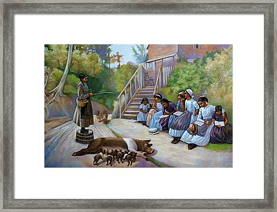 The Teacher Framed Print by Curtis James