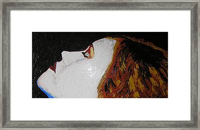 The Tear Framed Print by Ricklene Wren