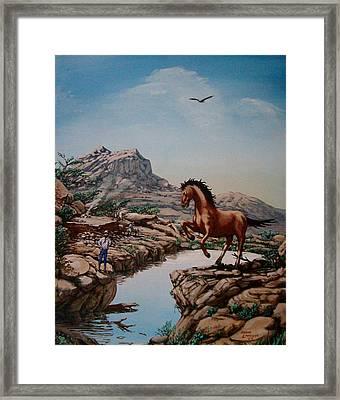 The Tease Framed Print by David  Larcom
