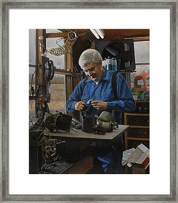 The Technician Framed Print by Doug Strickland