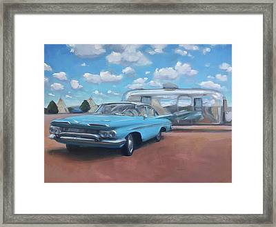 The Teepee Motel, Route 66 Framed Print