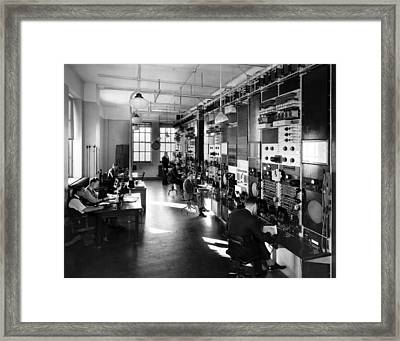The Telephone Companys General Control Framed Print