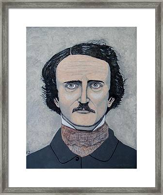 The Telltale Heart Of Edgar Allen Poe. Framed Print by Ken Zabel