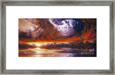 The Tempest Framed Print by James Christopher Hill