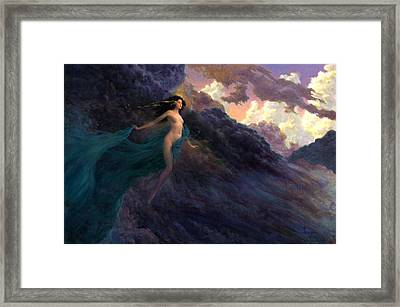 The Tempest Framed Print by Richard Hescox