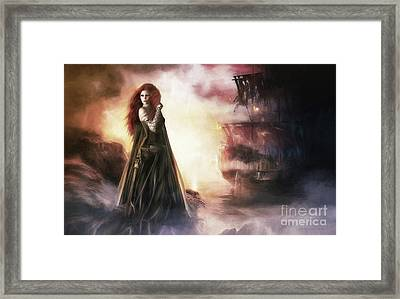 The Tempest Framed Print by Shanina Conway