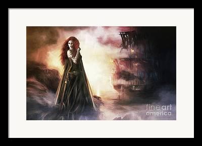Tempest Digital Art Framed Prints