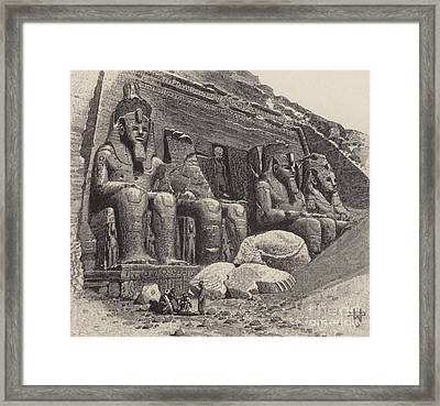 The Temple Of Abu Simbel Framed Print