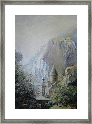 The Temple Of Geghard Framed Print
