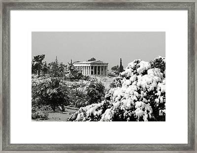 The Temple Of Hephaestus Framed Print