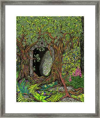 The Temple Of Math Framed Print by FT McKinstry