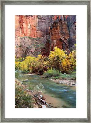 The Temple Of Sinawava In Zion National Park Framed Print by Pierre Leclerc Photography