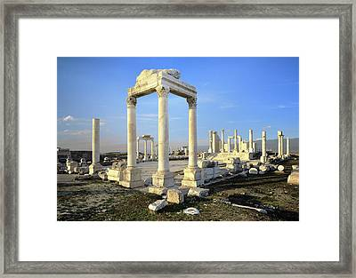 The Temple Of Zeus. Laodicea, Turkey Framed Print