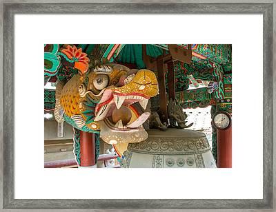 The Temple Framed Print by Peteris Vaivars