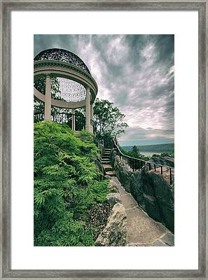 The Temple Walkway Framed Print by Jessica Jenney