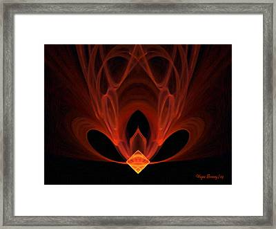 The Temple Within Framed Print by Wayne Bonney