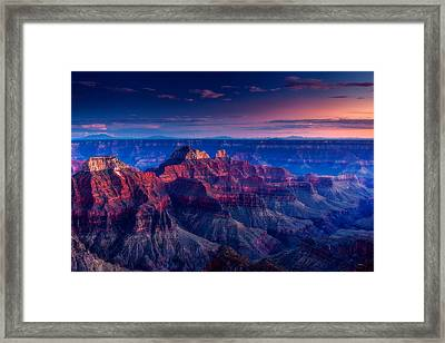 The Temples And Bright Angel Canyon Framed Print by Dan Holmes
